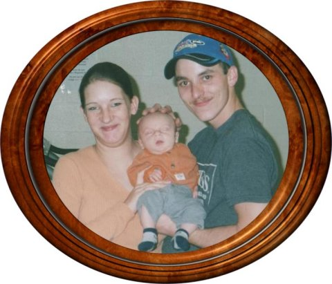 Emily's cousin Danny Dontrich, his girlfriend Amanda, and his son Nate