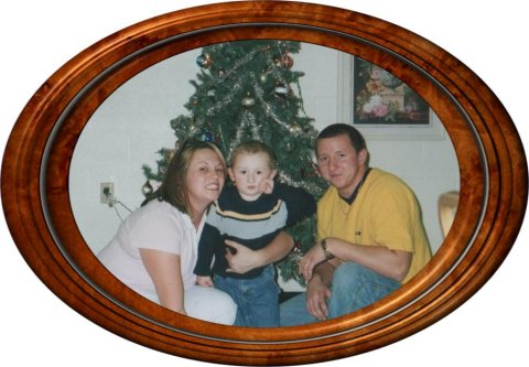 Emily's cousin Greg Dontrich, his wife Bobbi Jo, and his son Anthony