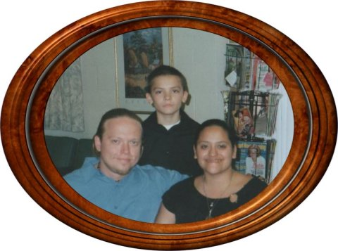 Elizabeth Garcia(Emily's sister), her husband Zeke, and son Jake